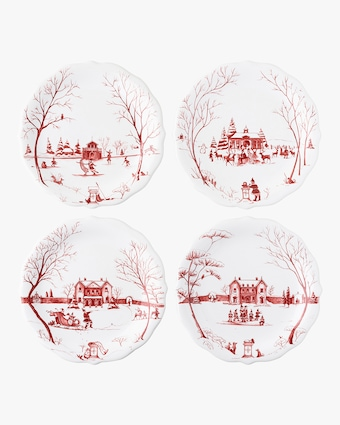 """Juliska Country Estate """"Mr. & Mrs. Claus"""" Party Plate - Set of 4 1"""