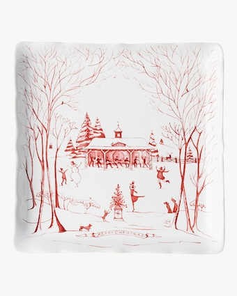 Juliska Country Estate Winter Frolic Ruby Stable Soiree Sweets Tray 2