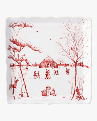 """Juliska Country Estate Winter """"Mr. & Mrs. Claus"""" Sweets Tray 1"""