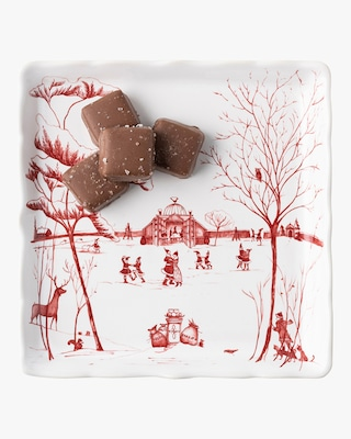 """Juliska Country Estate Winter """"Mr. & Mrs. Claus"""" Sweets Tray 2"""
