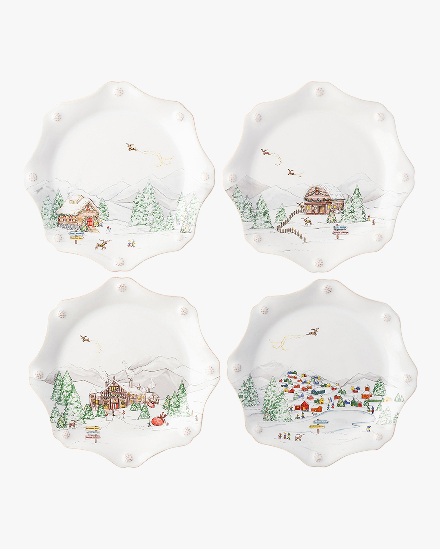 Juliska Berry & Thread North Pole Scalloped Dessert Plate - Set of 4 1