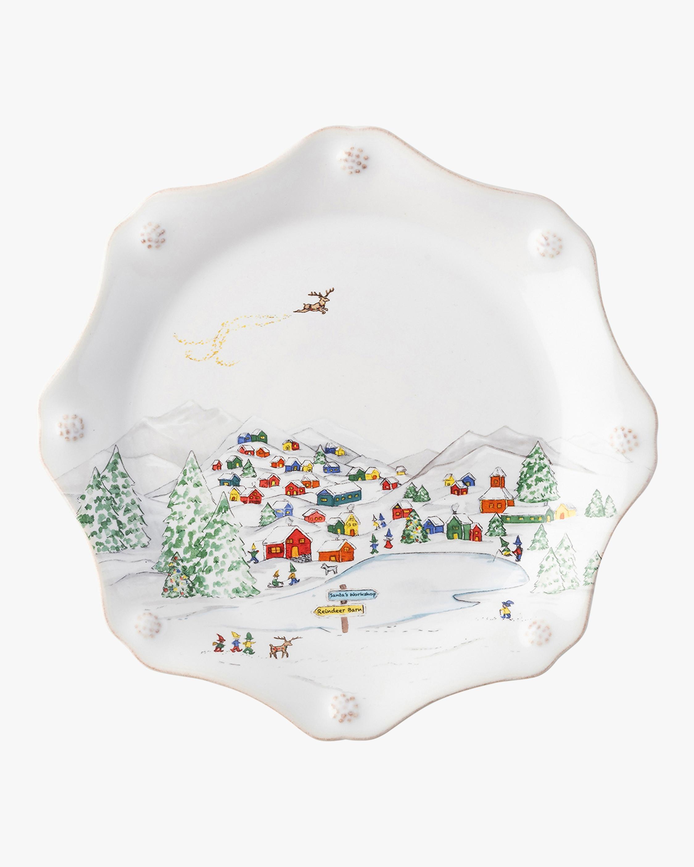 Juliska Berry & Thread North Pole Scalloped Dessert Plate - Set of 4 2