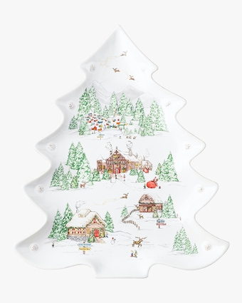 Juliska Berry & Thread North Pole Tree Platter 1
