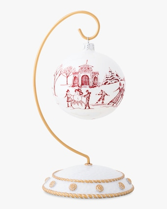Juliska Limited Edition Country Estate Winter Frolic Ruby Ornament 1