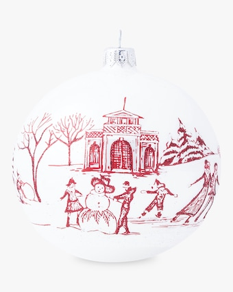 Juliska Limited Edition Country Estate Winter Frolic Ruby Ornament 2