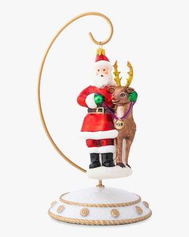 Juliska Country Estate Reindeer Games Santa & Rudolph Ornament 1