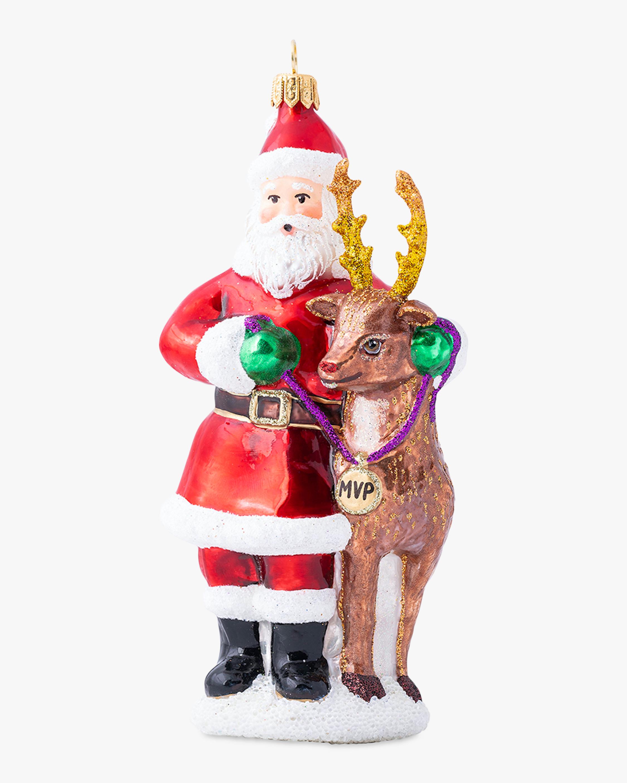 Juliska Country Estate Reindeer Games Santa & Rudolph Ornament 2