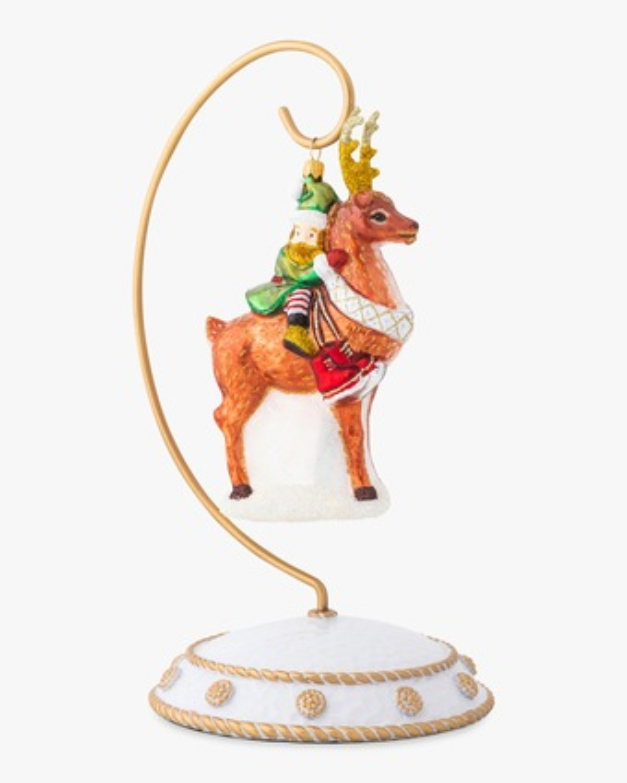 Juliska Country Estate Reindeer Games Dancer & Elf Ornament 1
