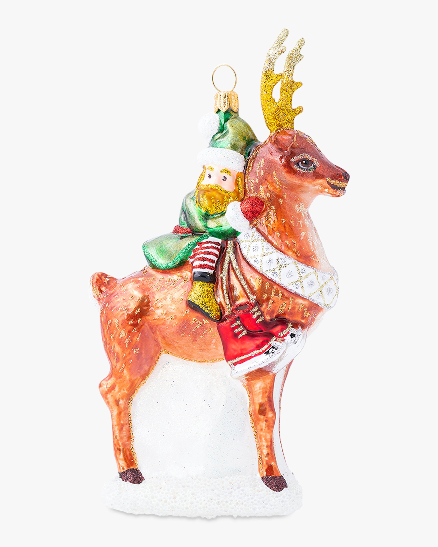 Juliska Country Estate Reindeer Games Dancer & Elf Ornament 2