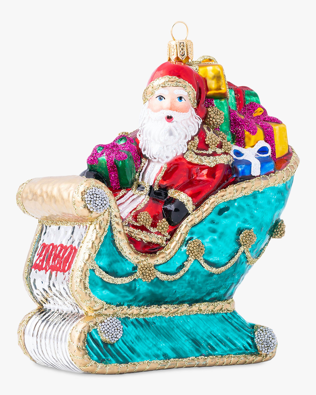 Juliska Berry & Thread 2020 Santa in Sleigh Ornament 2