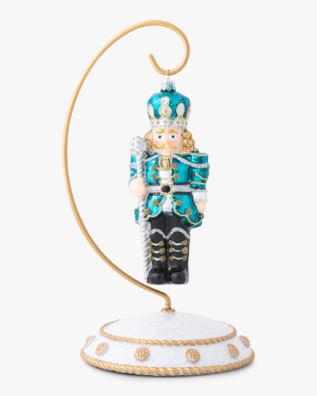 Juliska Berry & Thread Teal Nutcracker Ornament 1