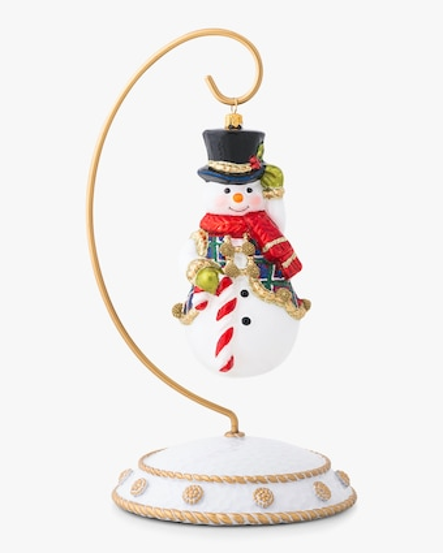 Juliska Berry & Thread Tartan Snowman Ornament 1