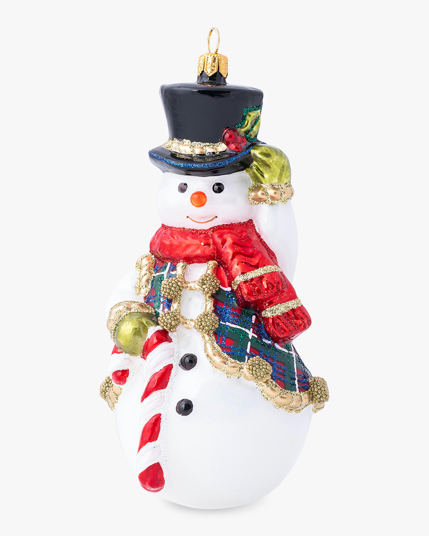 Juliska Berry & Thread Tartan Snowman Ornament 2