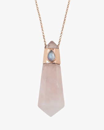 Jacquie Aiche Rose Quartz Pendant Necklace 2