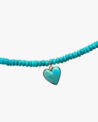 Jacquie Aiche Turqouise Heart Beaded Anklet 2