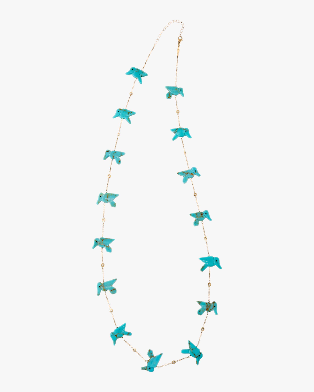 Jacquie Aiche Turquoise Station Necklace 1