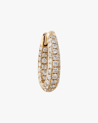 Jacquie Aiche Single Diamond Tapered Huggie 1