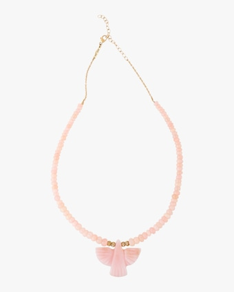 Jacquie Aiche Pink Opal & Rose Quartz Beaded Necklace 1