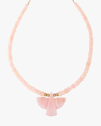 Jacquie Aiche Pink Opal & Rose Quartz Beaded Necklace 2