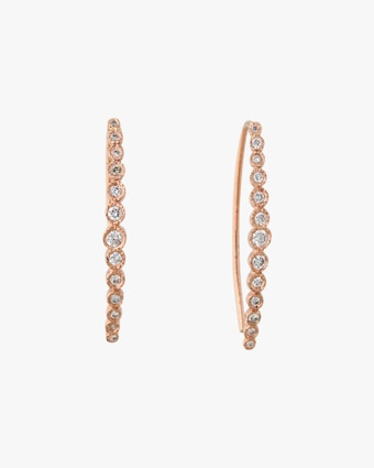 Jacquie Aiche Graduated Diamond Hoop Earrings 1