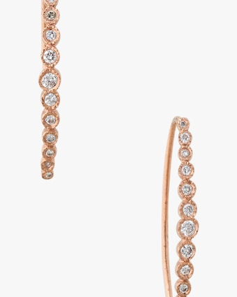 Jacquie Aiche Graduated Diamond Hoop Earrings 2