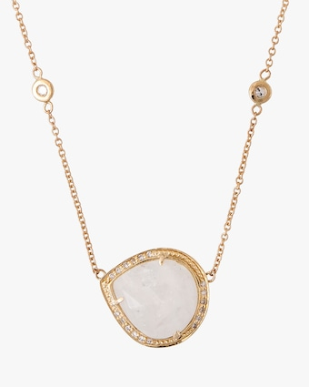 Jacquie Aiche Moonstone Pendant Necklace 2
