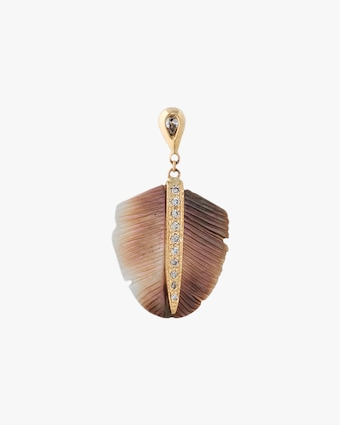 Jacquie Aiche Single Mother-of-Pearl Drop Feather Earring 1