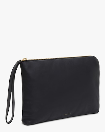 Mansur Gavriel Black Flamma Pillow Pouch 1