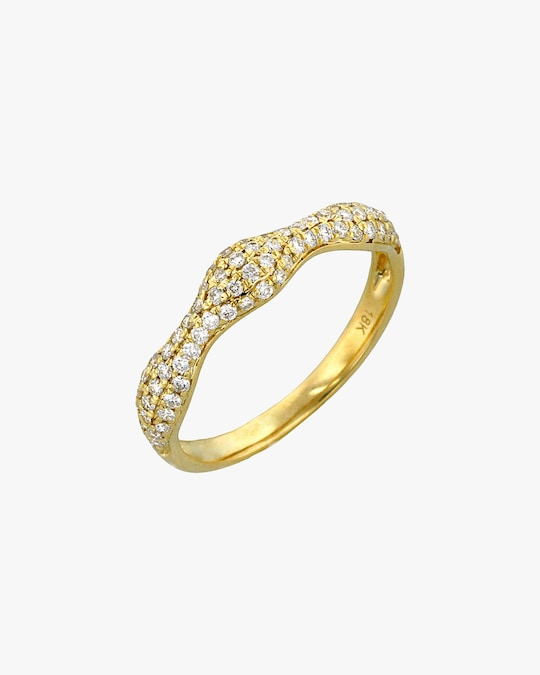 Ashley Morgan Yellow Gold Diamond Ring 0