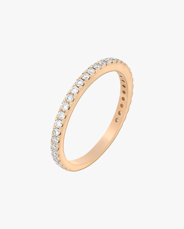 Ashley Morgan Rose Gold Eternity Ring 0