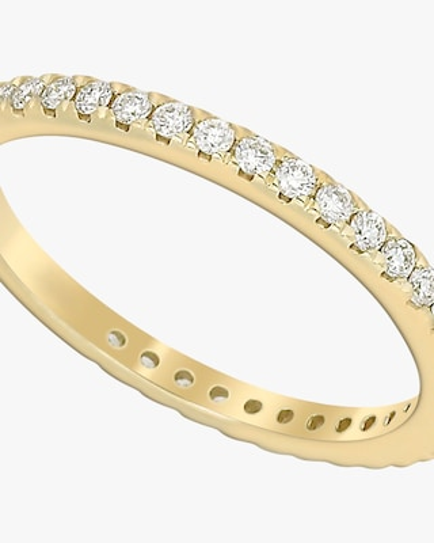 Ashley Morgan Yellow Gold Eternity Ring 2