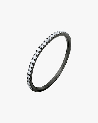 Ashley Morgan Blackened Gold Eternity Ring 1