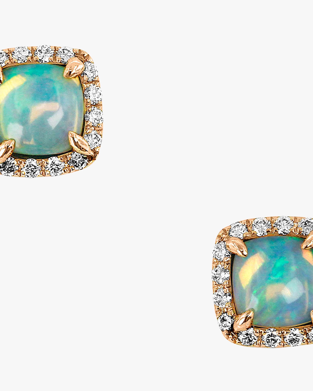 Ashley Morgan Square Opal Stud Earrings 2
