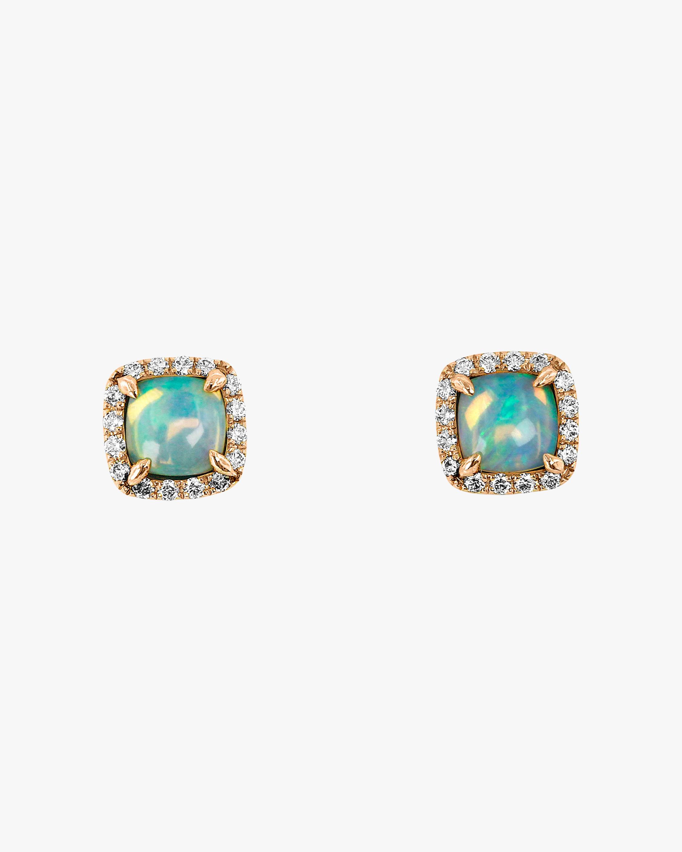 Ashley Morgan Square Opal Stud Earrings 1