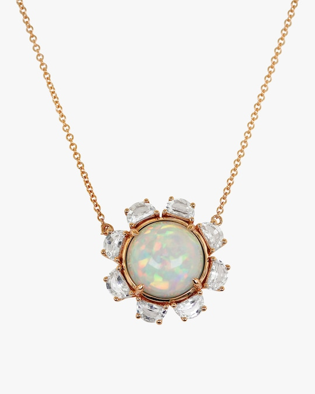 Ashley Morgan Opal & Sapphire Pendant Necklace 0