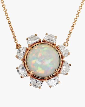 Ashley Morgan Opal & Sapphire Pendant Necklace 2