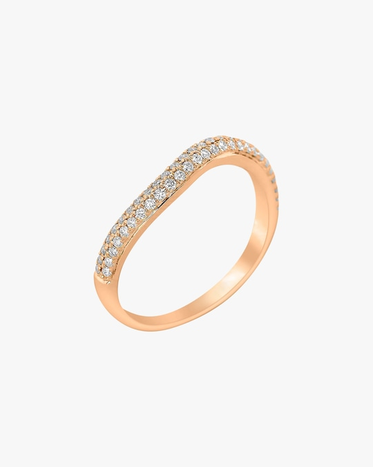 Ashley Morgan Rose Gold Two-Layer Diamond Ring 0