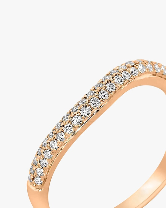 Ashley Morgan Rose Gold Two-Layer Diamond Ring 1