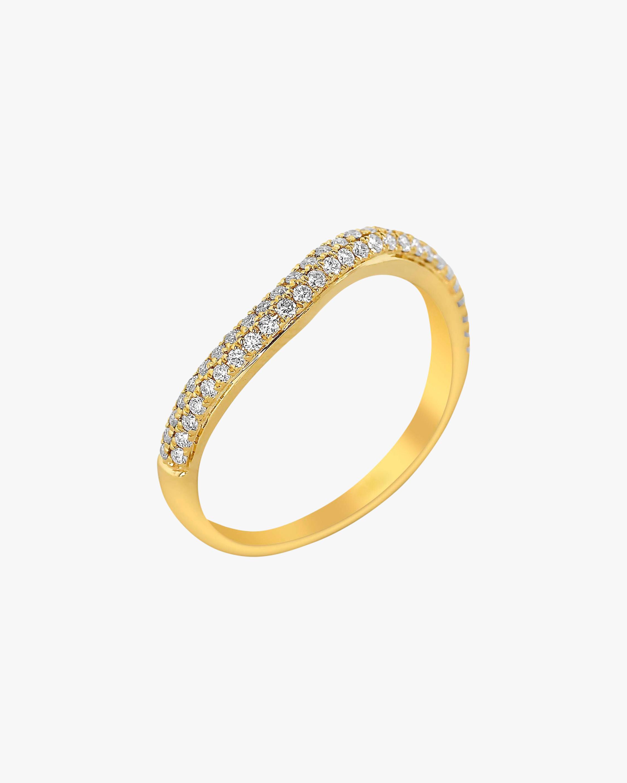 Ashley Morgan Yellow Gold Two-Layer Diamond Ring 1