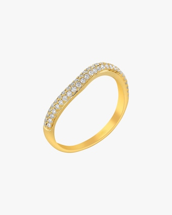 Ashley Morgan Yellow Gold Two-Layer Diamond Ring 1