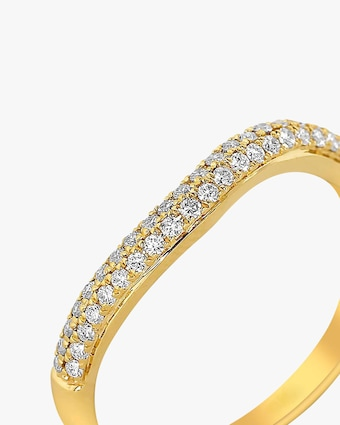 Ashley Morgan Yellow Gold Two-Layer Diamond Ring 2