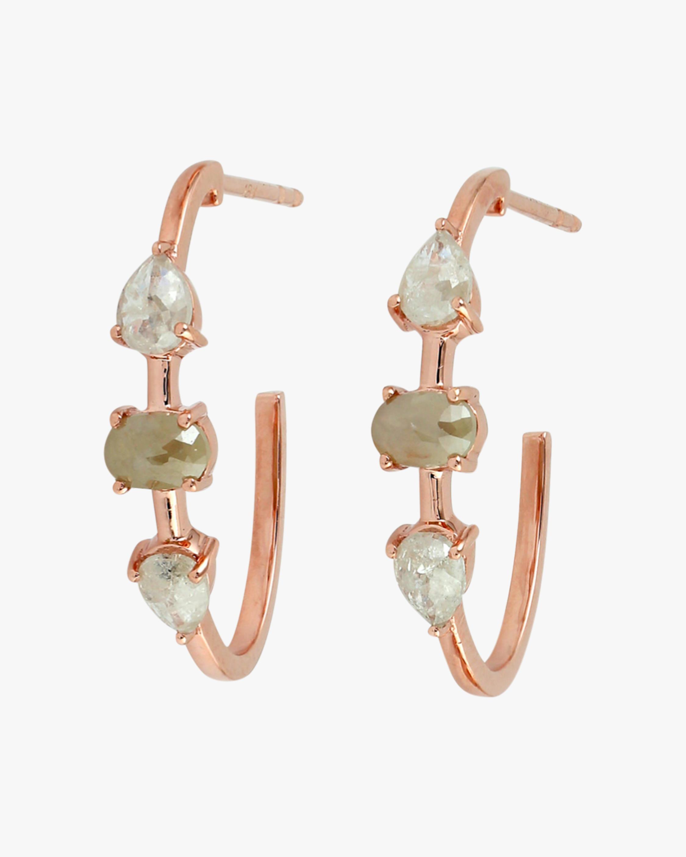 Ashley Morgan Raw Diamond Hoop Earrings 0