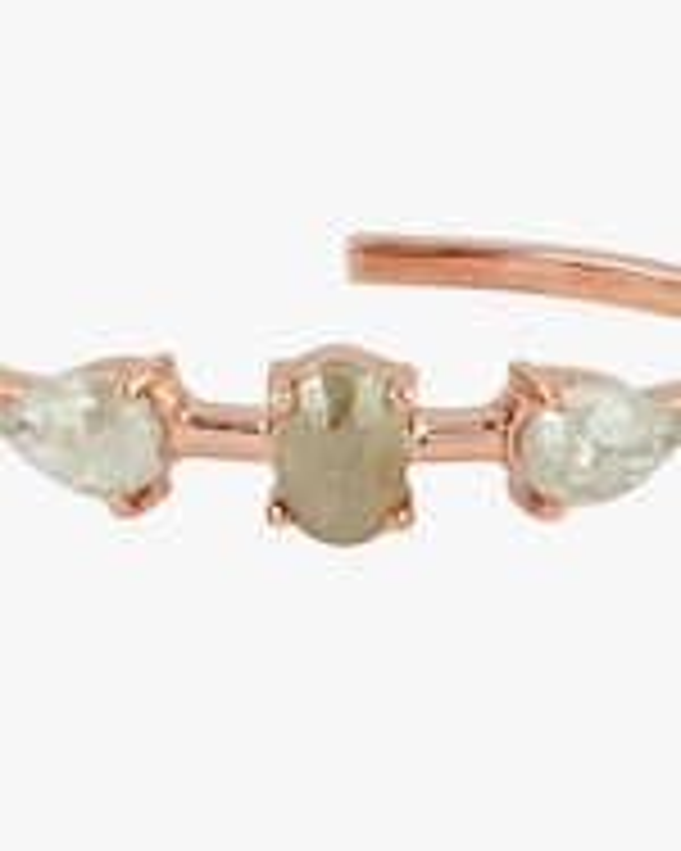 Ashley Morgan Raw Diamond Hoop Earrings 1