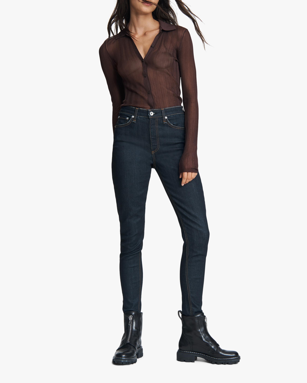 rag & bone Nina High-Rise Skinny Jeans 0