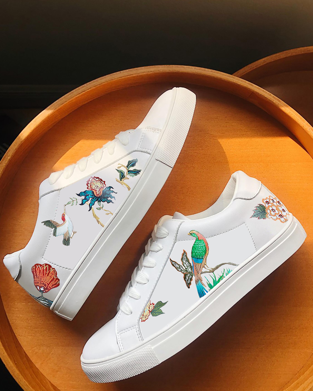 Alepel Floral Bird Sneaker 1