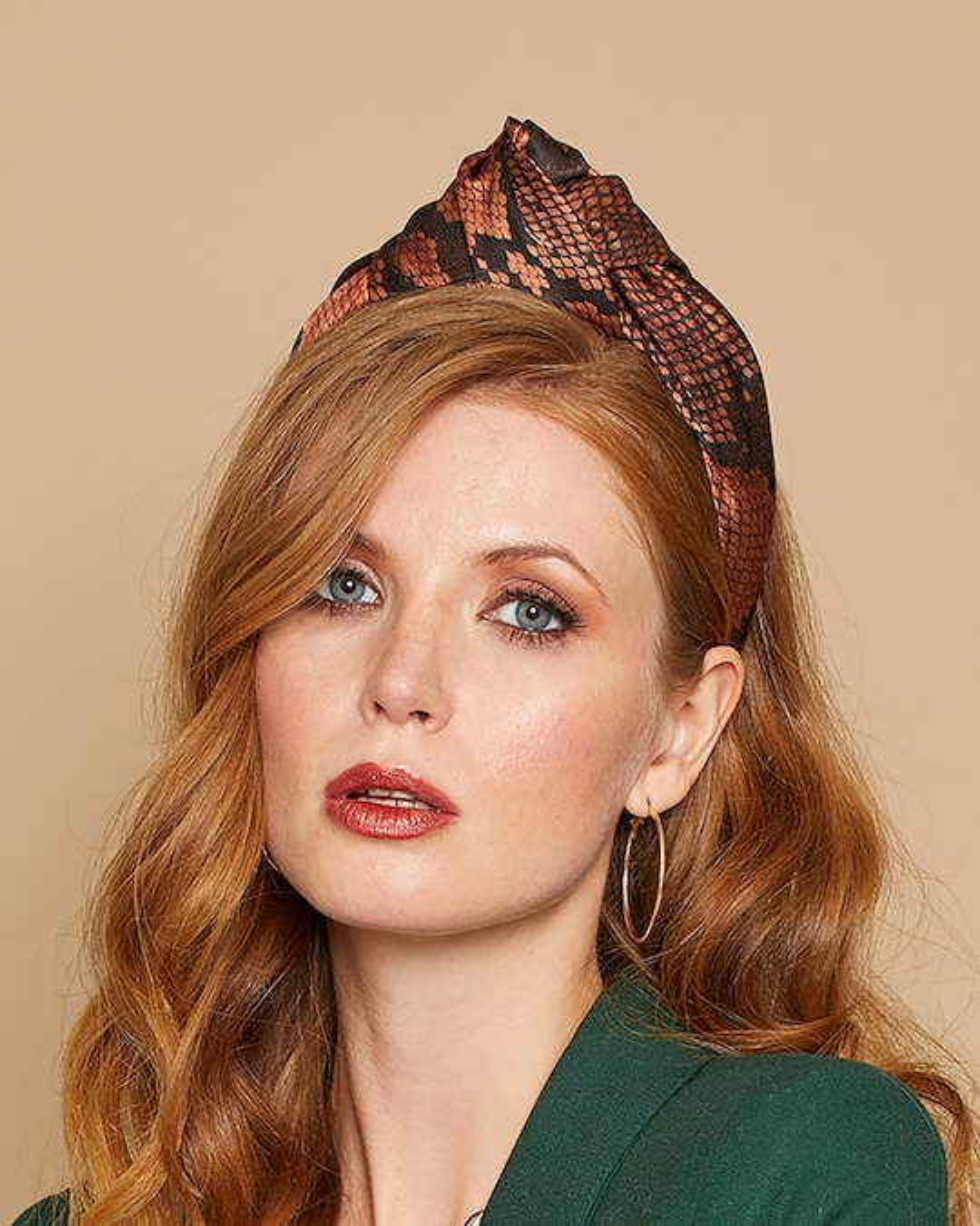 Eugenia Kim Maryn Snakeskin Headband 1