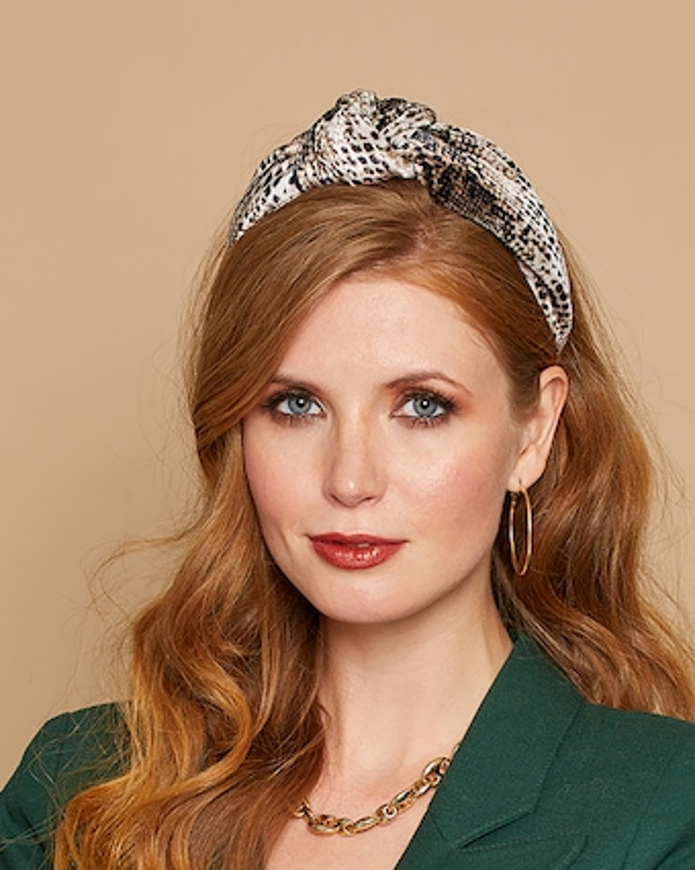 Eugenia Kim Karyn Snakeskin Headband 2