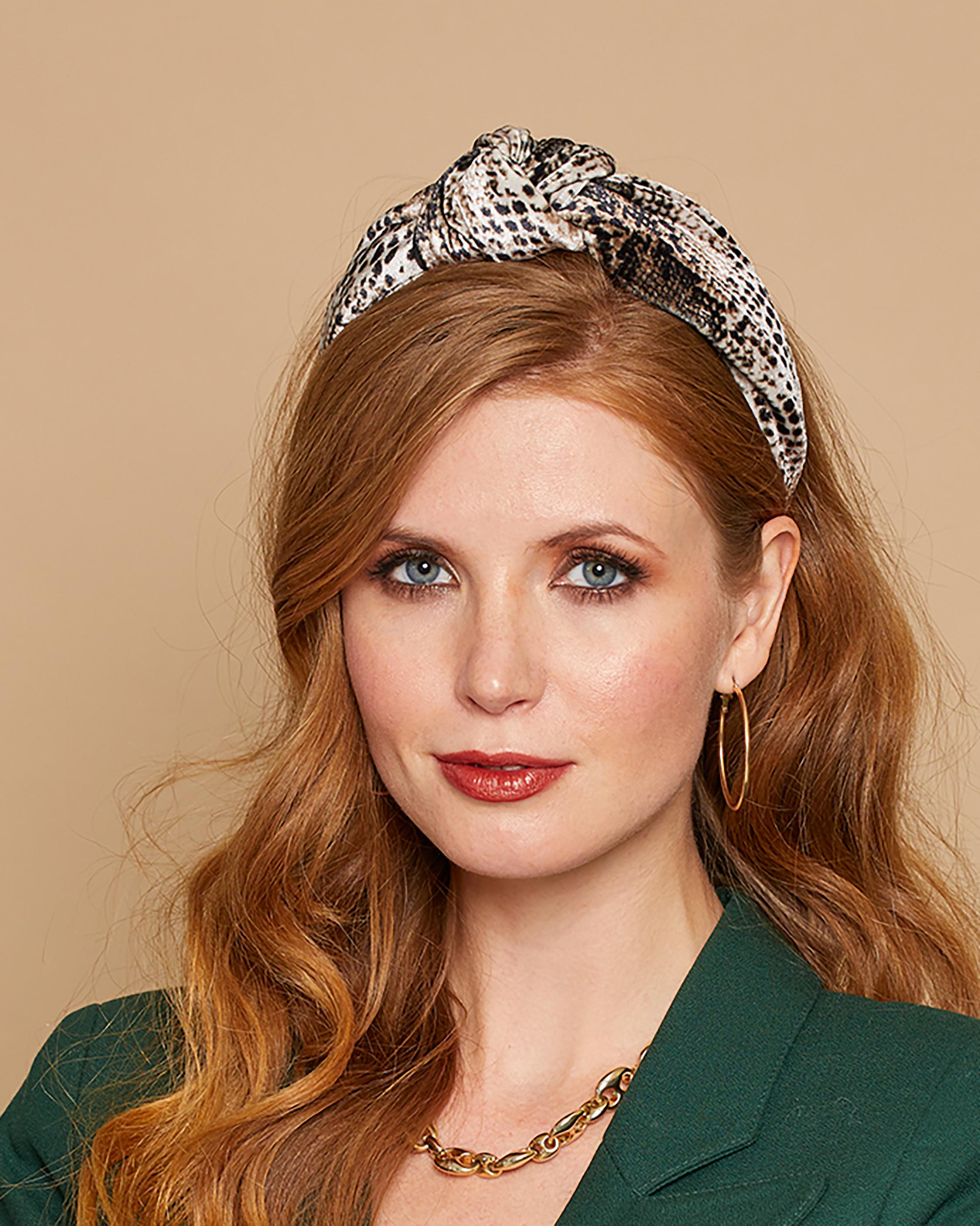 Eugenia Kim Karyn Snakeskin Headband 1