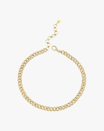 Shay Jewelry Mini Link Anklet 1