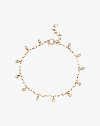 Shay Jewelry Baguette Drop Anklet 1